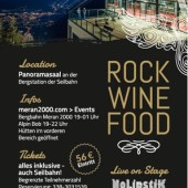Rock Wine Food 7 im Panoramasaal der Bergstation Meran 2000