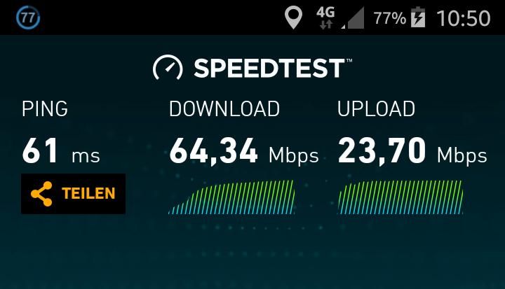 Internetgeschwindigkeit von mehr als 60 Mbit_s in Matsch