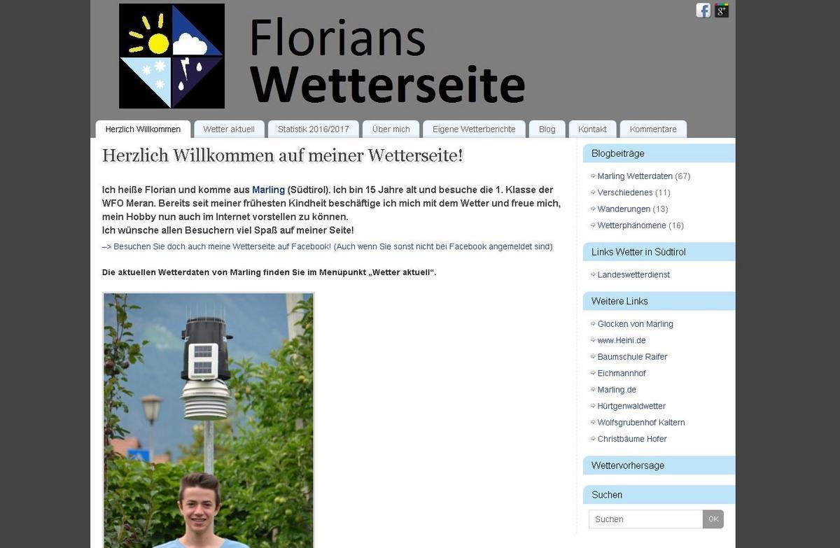 Florians Wetterseite