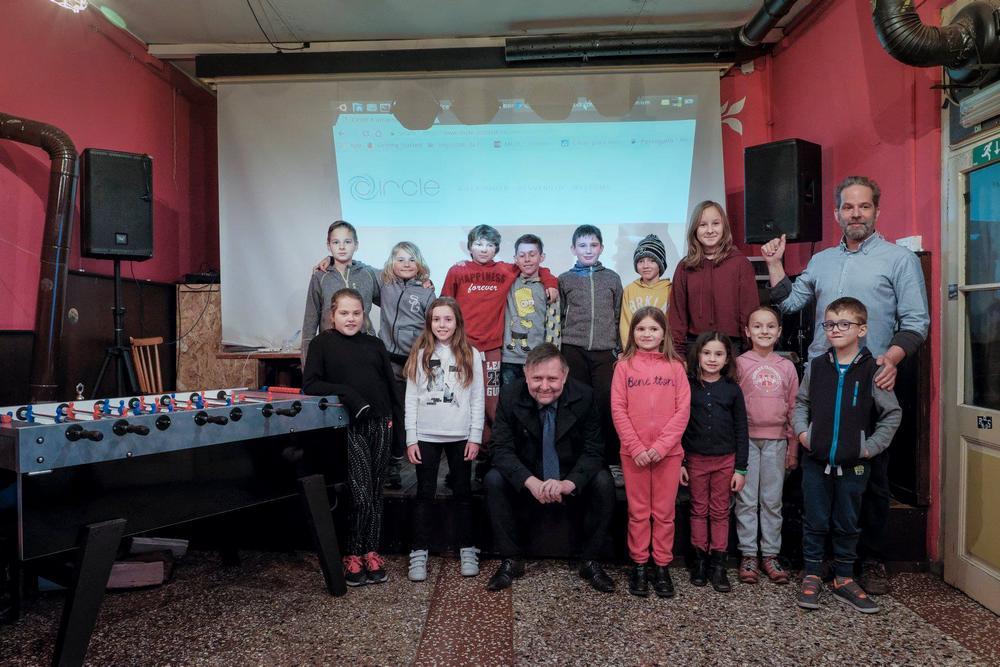 Foto Catello Nigro Calcetto Afternoon for Kids con presidente Erwin Seppi e organizzatore Gianluca Dominici