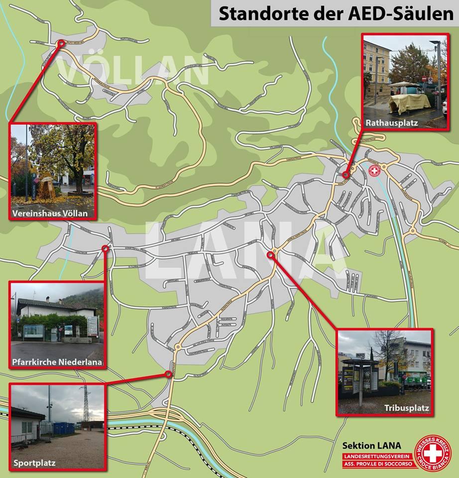 Standorte AED Lana