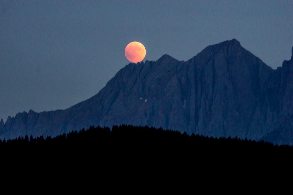Die letzte Mondfinsternis in Suedtirol am 27. Juli 2018 1 Foto David Gruber