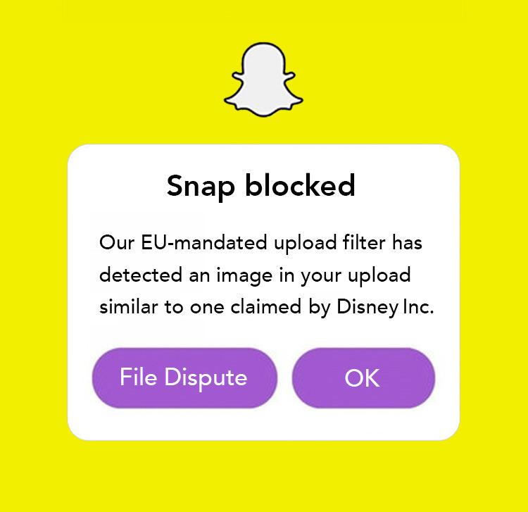 error snap blocked