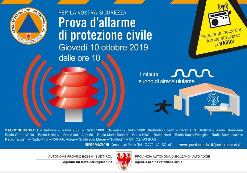 Protezione Civile alarme