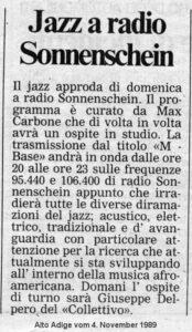 Alto Adige 04.11.1989