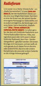Radioforum FF 22.11.2001