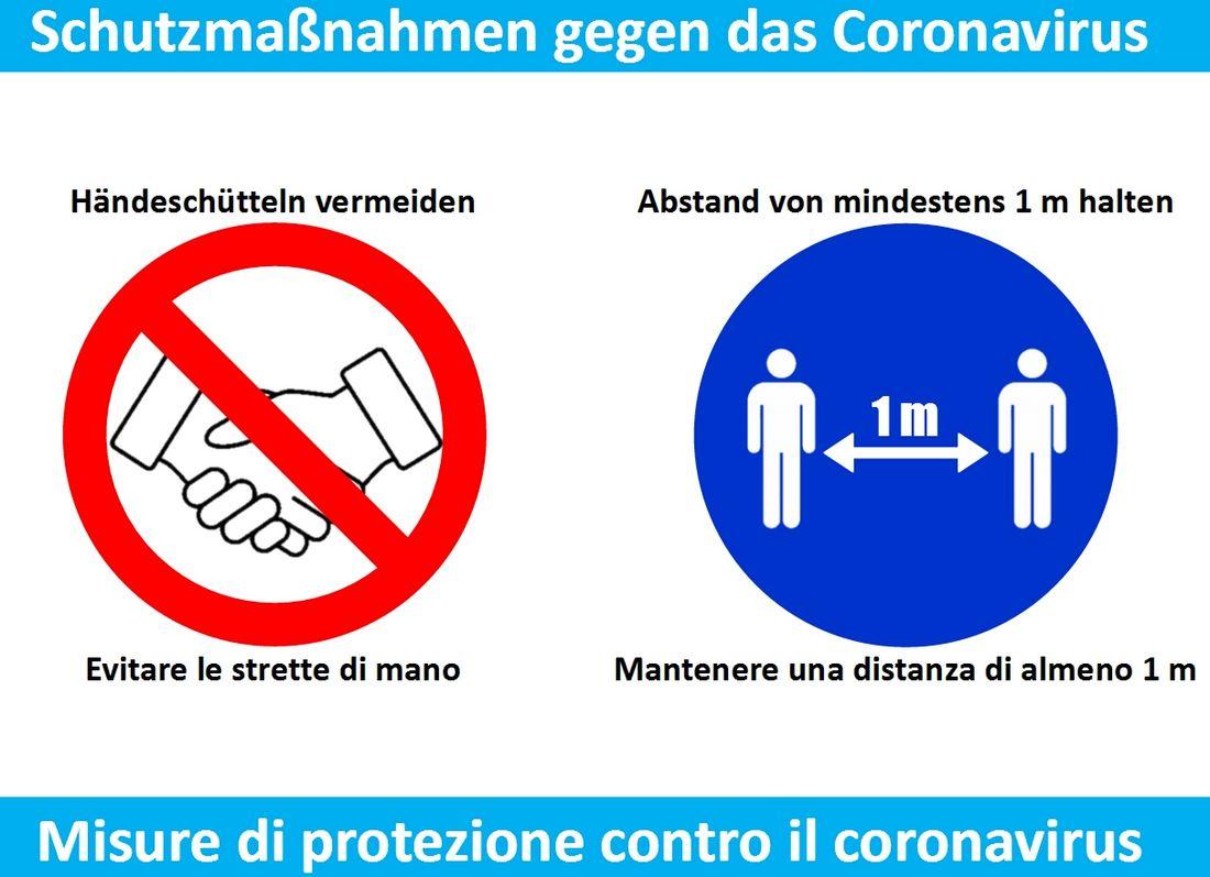 Corona Virus Schutzmassnahmen