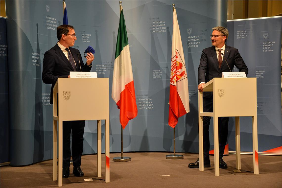 Minister Boccia LH Arno Kompatscher