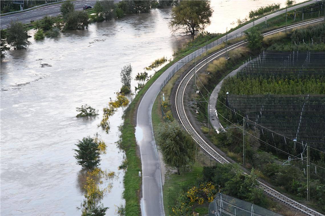 Hochwasser an der Etsch