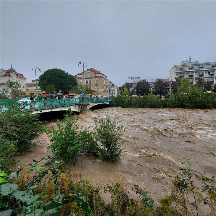Hochwasser Die Passer in Meran