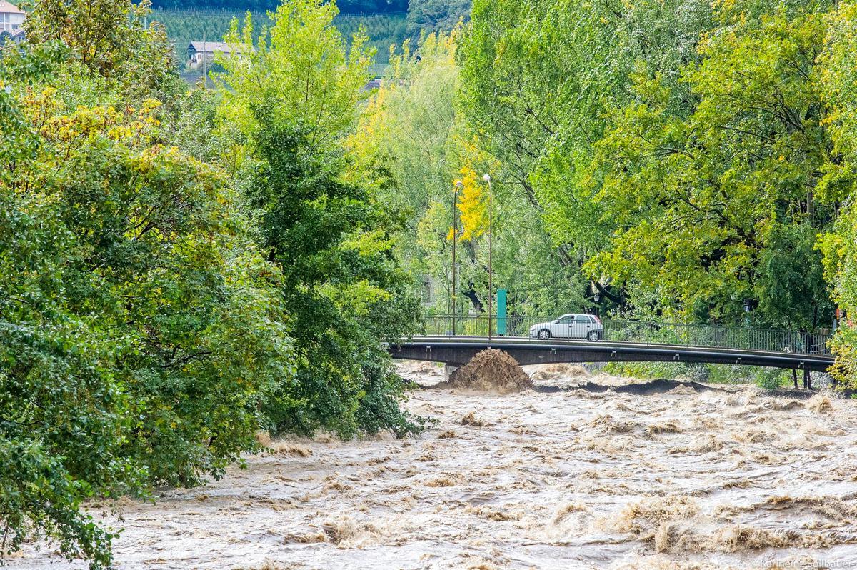 Hochwasser Passer Meran 3
