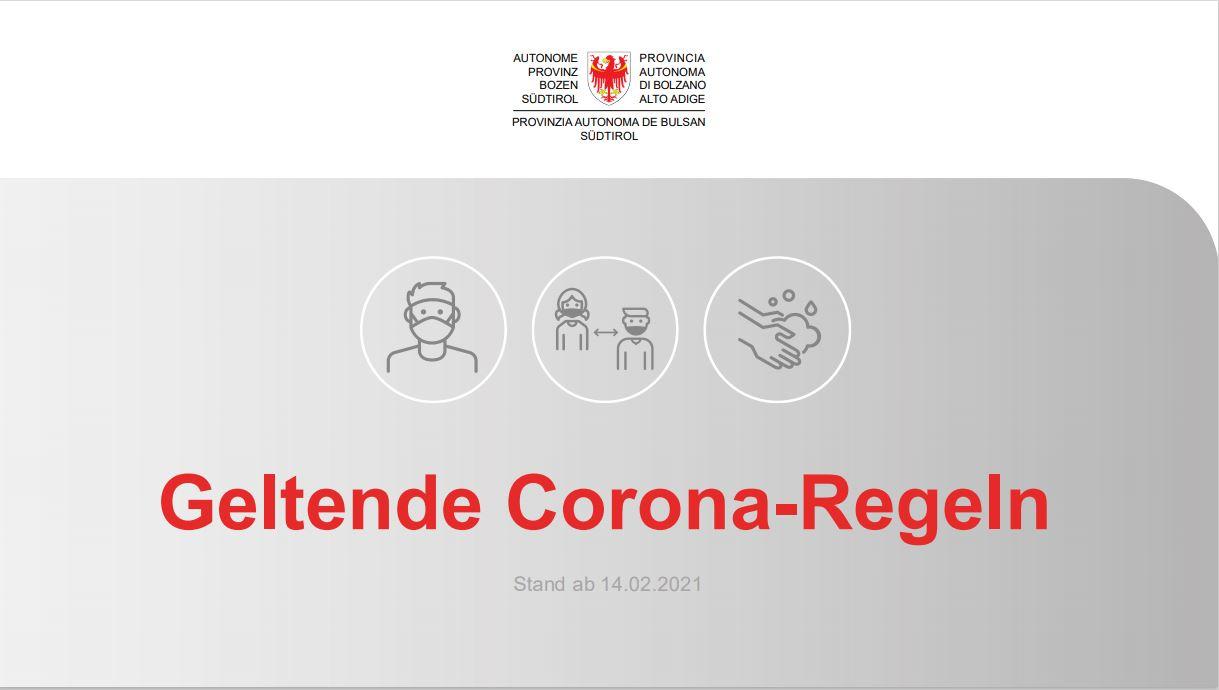 Corona Regeln Suedtirol 1