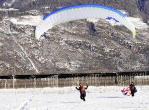 Paragleiter Landungen Lana014