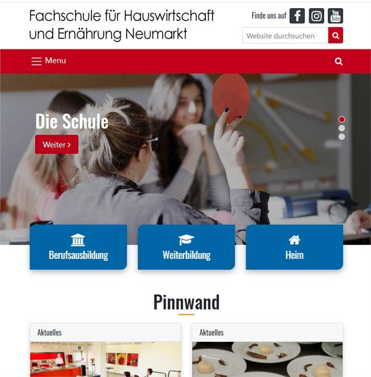 Mit einem neuen Internet-Auftritt warten acht Berufsschulen auf und vervollständigen das Web-Portal der Landesberufsschulen.