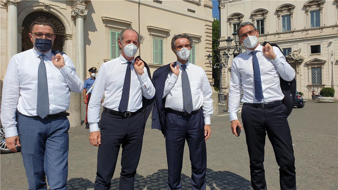 Mit einer Delegation der Stiftung Milano-Cortina 2026 war Kompatscher heute (17. Juni 2021) im Quirinalspalast in Rom zu Gesprächen über die olympischen Winterspiele. Dann folgte ein Treffen mit Minister Giovannini.